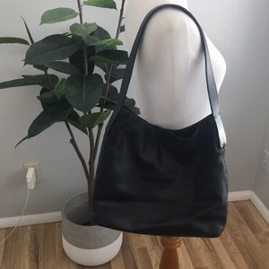 Francesco Biassia Black Leather Shoulder Bag Purse
